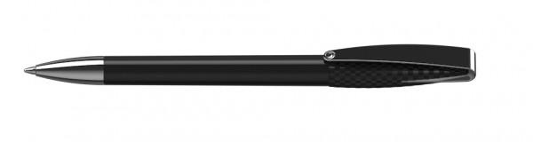 Kugelschreiber Cobra structure/high gloss Mmn schwarz