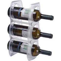 Weinregal aus Kunststoff für 3 Flaschen