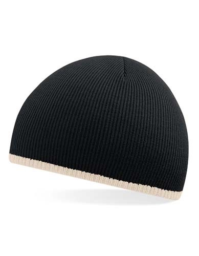 Two-Tone Pull-On Beanie_Black_Stone