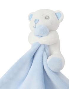 Baby Tier Tröster Mit Rassel Blue-Bear.
