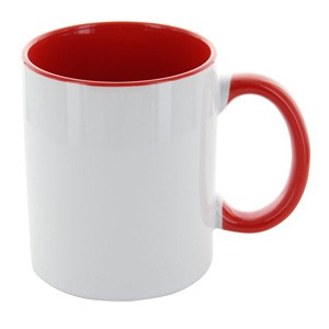 Tasse Carola weiß-rot
