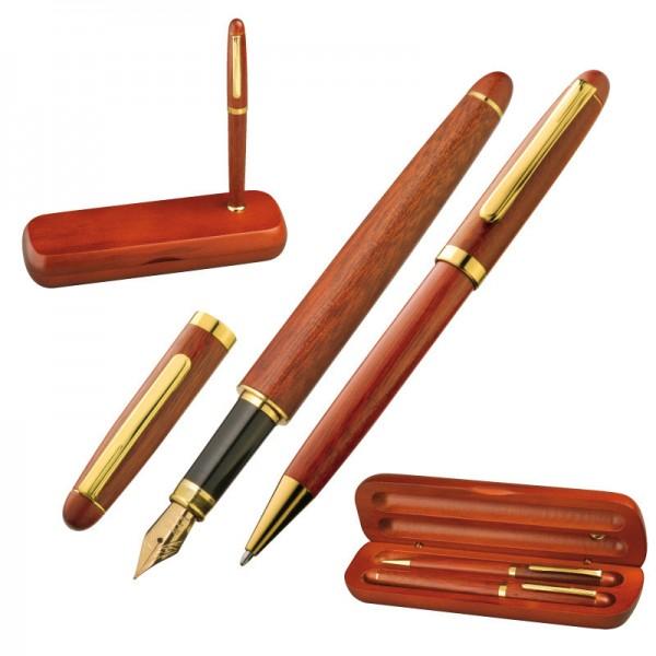 Mac-14015 Holz-Schreibset Kugelschreiber u. Füller