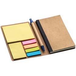 Notizbuch mit Haftmarkern