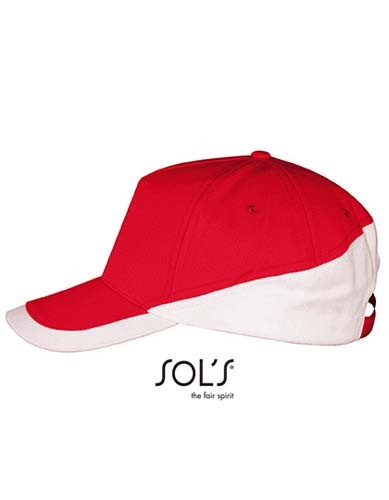 5 Panels Contrasted Cap Booster_Red_White