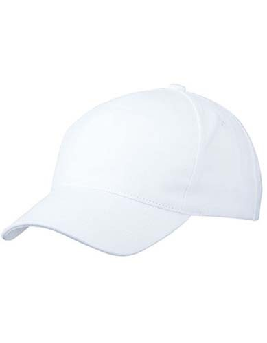 5 Panel Cap Heavy Cotton_White
