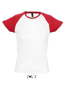 L-L195 Women`s Raglan Colour-T Milky
