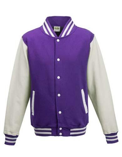 JH043 Varsity Jacket_Purple_White