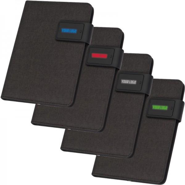 Notizbuch mit integrierter Powerbank