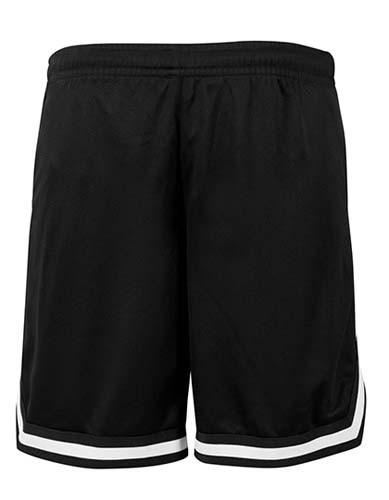 Two-tone Mesh Shorts_Black_Black_White