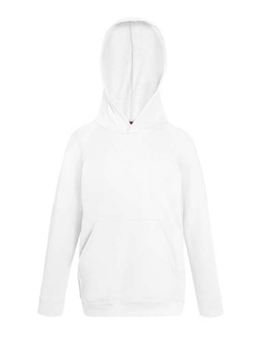 Kids Lightweight Hooded Sweat_White