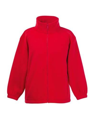 Full Zip Fleece Kids_Red