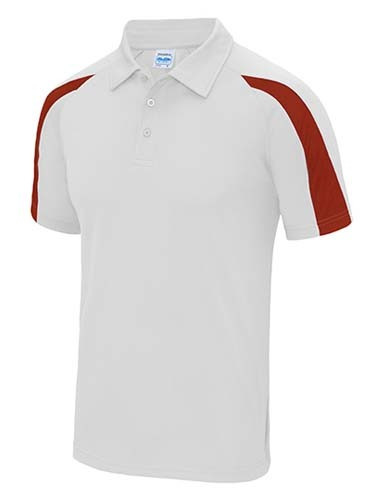 JC043 Contrast Cool Polo_Arctic-White_Fire-Red