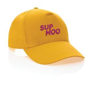 5 Panel Kappe aus 190gr gelb