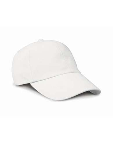 Low Profile Heavy Brushed Cotton Cap_White