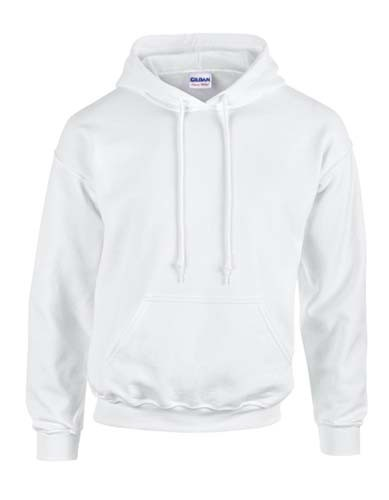 G18500 Hooded Sweatshirt_White