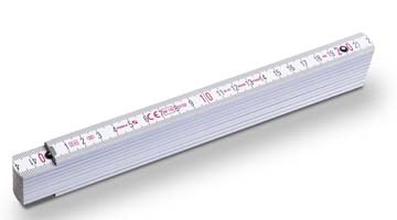 Zollstock Serie 400 weiß 2m, Digitaldruck