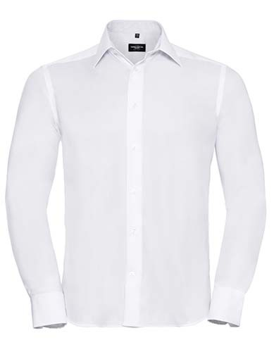 Men`s Long Sleeve Tailored Ultimate Non-Iron Shirt_White