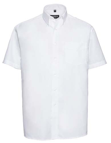 Men`s Short Sleeve Classic Oxford Shirt_White