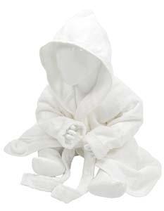 AR022 Babiezz® Bathrobe with Hood_White_White