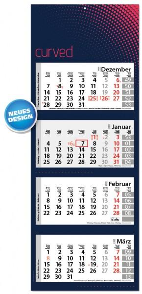 Ec-1510 Style-4 | flatbarer 4-Monats-Kalender | deutsch-mehrsprachig