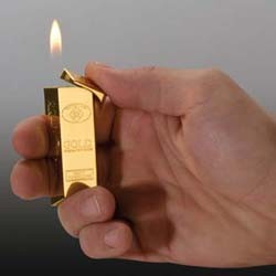 Mac-98741 Feuerzeug Goldbarren