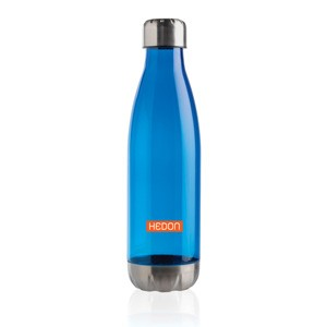 Trinkflasche mit Stainless-Steel-Deckel blau