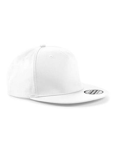 5 Panel Snapback Rapper Cap_White