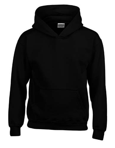 Heavy Blend™ Youth Hooded Sweatshirt_Black