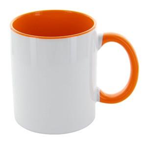 Tasse Carola weiß-orange