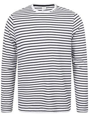 Long Sleeved Striped T White_Oxford-Navy.