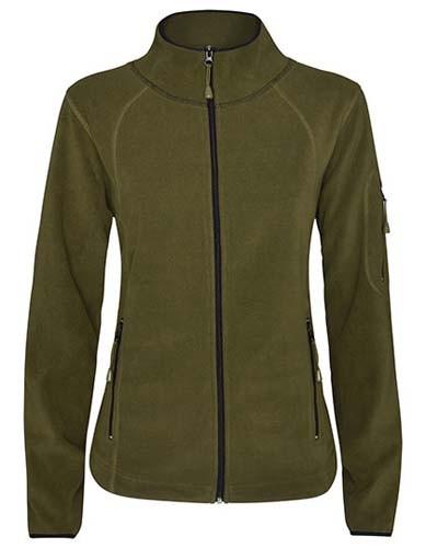 Luciane Woman Microfleece Jacket_Army-Green