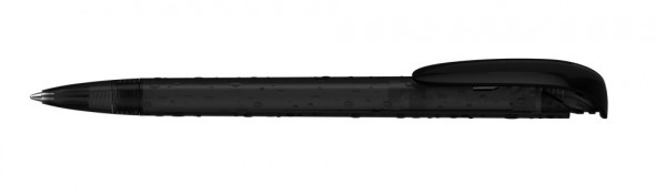 Kugelschreiber Jona structure schwarz transparent