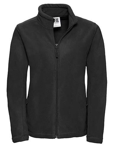 Ladies` Full Zip Outdoor Fleece_Black