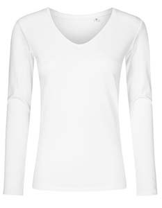 XO1560 T-Shirt Damen Langarm V-Ausschnitt