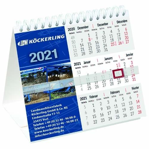 Tischkalender  Kartonaufsteller  140 x 130 mm