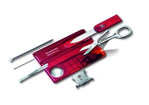 SwissCard Lite Rubin-Taschenwerkzeug-Kreditkartenformat