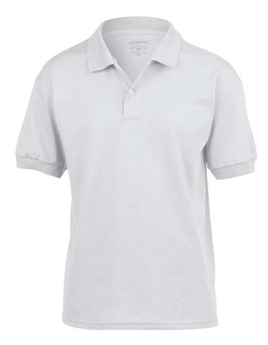 DryBlend® Youth Jersey Polo_White