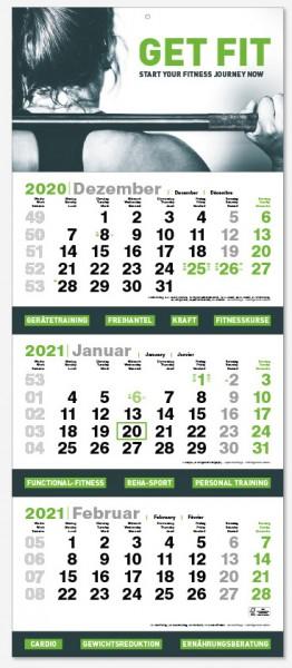 3PLUS | flatbarer 3-Monats-Kalender