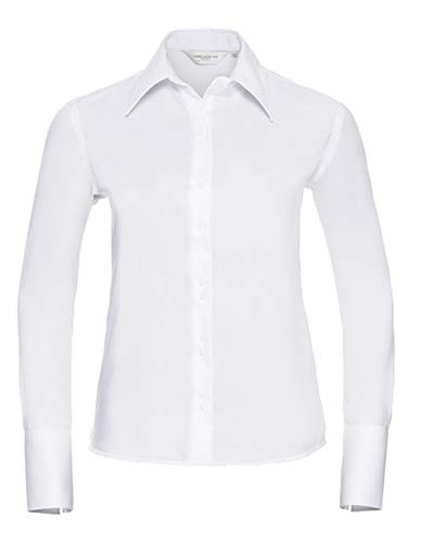 Ladies` Long Sleeve Tailored Ultimate Non-Iron Shirt_White