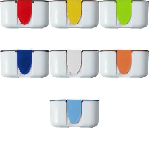 "8520 Brotdose ""Bob"" aus Silikon mit farbigen Applikationen"