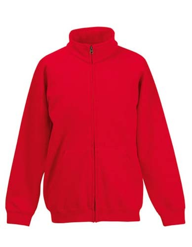 Kids Classic Sweat Jacket_Red