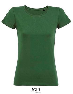 Women`s Sleeved T-Shirt Bottle-Green