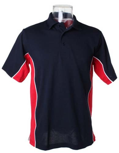 L-K475 Classic Fit Track Polo_Black_Rot-White