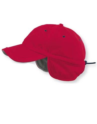 AT607 Techno Flap Cap_Red
