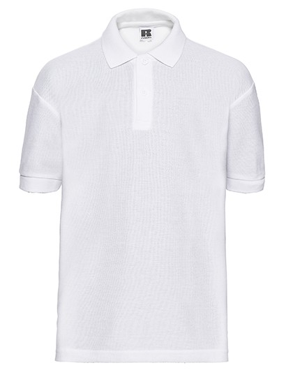 Children´s Classic Polycotton Polo_White