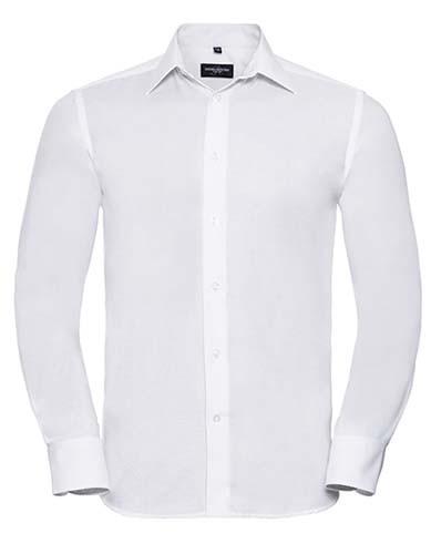 Men`s Long Sleeve Tailored Oxford Shirt_White