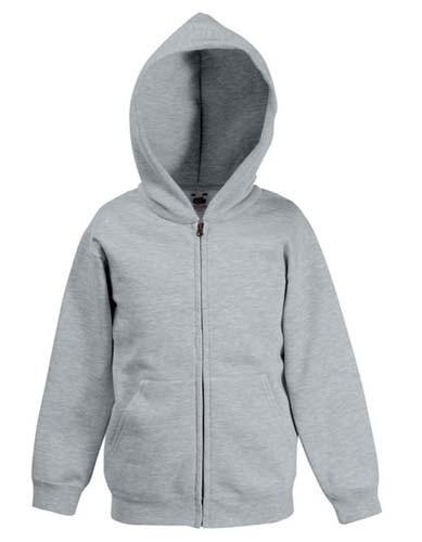 Classic Hooded Sweat Jacket Kids_Heather-Grey