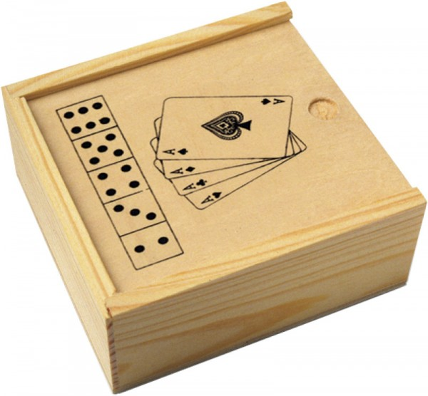 """2553 Karten und Würfelspiel """"Nevada"""" in Holzbox"""