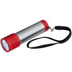 Mac-88634 Edelstahltaschenlampe mit farbigen Enden