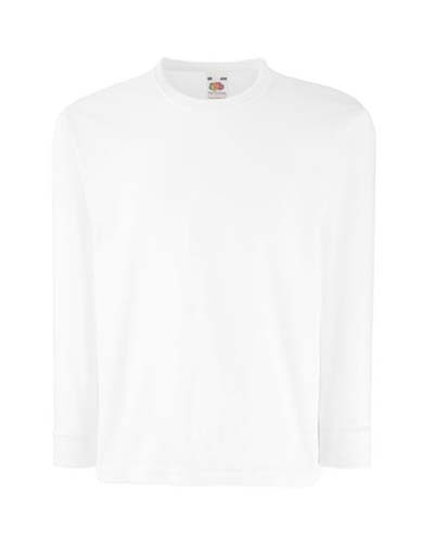 Kids Valueweight Long Sleeve T_White